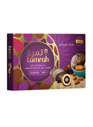 Tamrah Assorted Chocolate Covered Date with Almond Gift Box, 16 Pieces, 270g