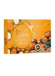Tamrah Caramel Chocolate Covered Date with Almond Gift Box, 16 Pieces, 310g
