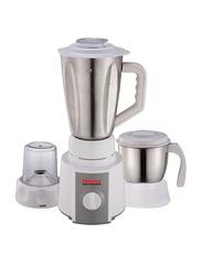 Nobel 1.5L 2-in-1 Mini Kitchen Machine Stainless Steel Blender, 350W, NB201SS, White/Silver