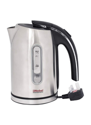 Nobel 1.7L Stainless Steel Electric Cordless Kettle, 1850W, NK187, Silver