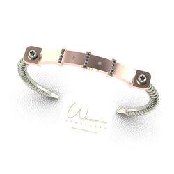 Wazna Jewellery Strength Of Spirit 18K Rose Gold Bracelet with Diamond Stone