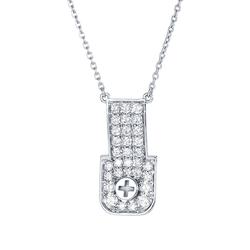 Wazna Jewellery Strength of Spirit 18K Yellow Gold Diamond Studded Pendant Necklace