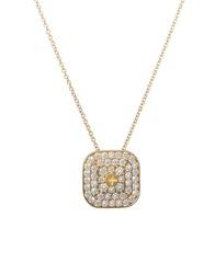 Wazna Jewellery 18K Yellow Gold Diamond Studded Pendant Necklace