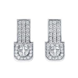 Wazna Jewellery Strength of Spirit 18K White Gold Diamond Studded Earrings