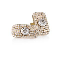 Wazna Jewellery Strength of Spirit 18K Yellow Gold Diamond Studded Earrings