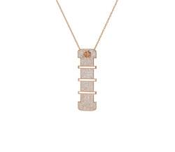 Wazna Jewellery Strength of Spirit Rose Gold Diamond Studded 15mm Pendant Necklace