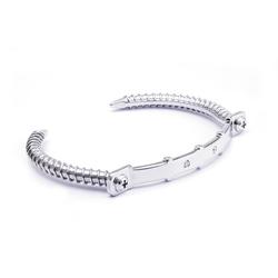 Wazna Jewellery Strength Of Spirit Silver Bracelet with Diamond Stone