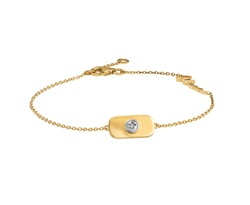 Wazna Jewellery Strength Of Spirit 18K Yellow Gold Bracelet