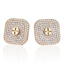 Wazna Jewellery Strength of Spirit 18K Rose Gold Diamond Studded Earrings