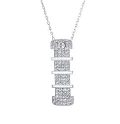 Wazna Jewellery 18K Yellow Gold Diamond Studded 15mm Pendant Necklace