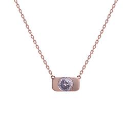 Wazna Jewellery Strength of Spirit 18K Yellow Gold Pendant Necklace with Diamond Stone