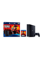 Sony PlayStation 4 Pro Console, 1TB, with DualShock Controller and 1 Game (Red Dead Redemption 2), Black