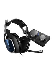 Astro Gaming A40 TR Wired Headset + MixAmp Pro TR with Dolby Audio for PlayStation 4 PS4/PC/Mac, Blue/Black