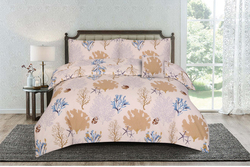 Kassino 3-Piece Batre Design Sheets & Pillow Cases Set, 1 Fitted Bed Sheet + 2 Pillow Covers, Lemon/Cream, Twin