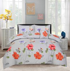 Style Nasma 2-Piece Adec Design Sheets & Pillow Cases Set, 1 Bed Sheet + 1 Pillow Cover, Grey, Double