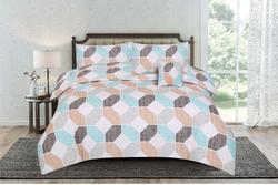 Kassino 4-Piece Deno Design Comforter Set, 1 Comforter + 1 Bed Sheet + 2 Pillow Covers, Zink, Queen