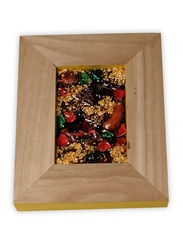 Aayrah Wooden Dried Flowers Frame, Multicolor