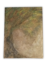 Aayrah Textured Gold Tree Painting, Multicolor