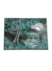 Aayrah Moonlight Green Painting, Multicolor
