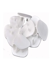 Home Pro Ad+ Baby Safety Plug Cover, 10 Pieces, White