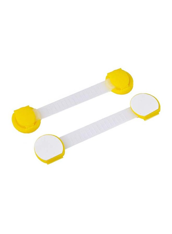 Home Pro Ad+ Baby Safety Drawer Lock, White/Yellow