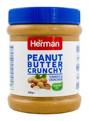 Herman Peanut Butter Crunchy Spread, 340g