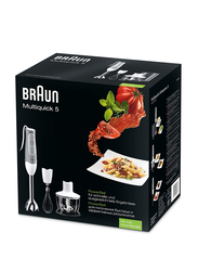 Braun MultiQuick 5 Hand Blender, 600W, MQ 535 SAUCE NEW, White/Grey