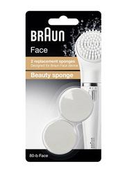 Braun SE 80-B Face Replacement Beauty Sponge Set, 2 Pieces, White