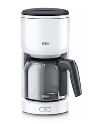 Braun PurEase Coffee Maker, 1000W, KF 3100, White