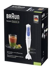 Braun MultiQuick 3 Hand Blender, 700W, Plastic Shaft, MQ 3000 Smoothie, White/Blue