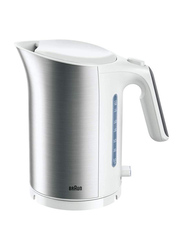 Braun IDCollection 1.7L Electric Stainless Steel Kettle, 3000W, WK 5110 WH, White