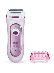 Braun Silk-epil LS 5103 Lady Shaver Grocery Pack with 1 Extra Trimmer Cap, 2 Pieces, Pink