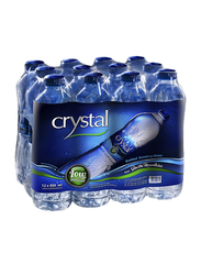 Crystal Low Sodium Bottled Drinking Water, 12 Bottle x 500ml
