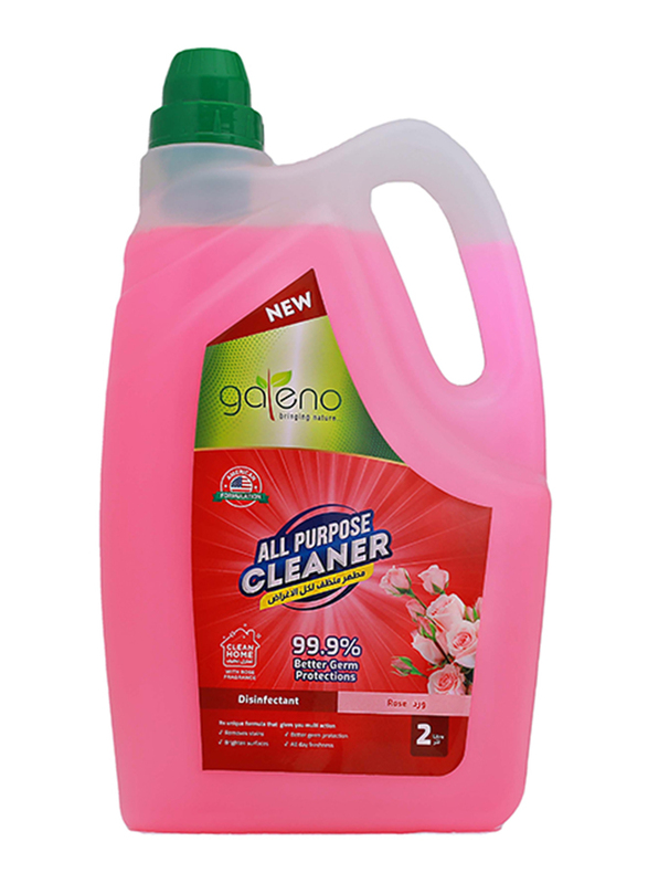 Galeno Rose Disinfectant All Purpose Cleaner, 2 Liters