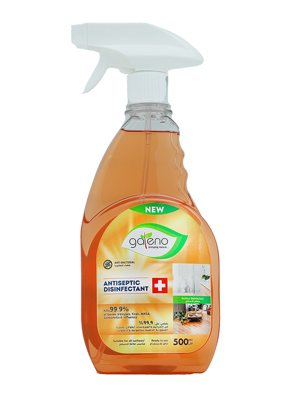 Galeno 5-in-1 Bundle Offer for Hygiene Products, Hand Wash 250ml + Dish Wash 500ml + Glass Cleaner 500ml + All-Purpose Cleaner 1.5Ltr + Antiseptic 500ml