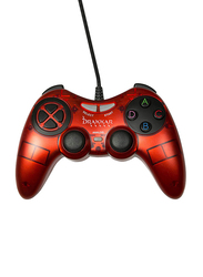 Konix Drakkar Blood Axe Gaming Controller for PC Games, Classic Red