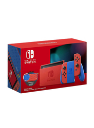 Nintendo Switch Mario Edition Console, 32GB, with Left & Right Joy Con, Red/Blue
