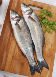 Sea Bass Fresh Fish UAE, 1 KG 2/3 Pieces (Whole)