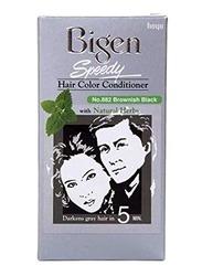 Bigen Speedy Hair Color Conditioner, 2 x 40gm, Brownish Black
