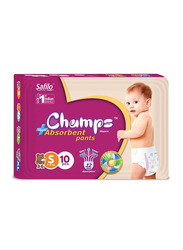 Champs High Absorbent Baby Pants Diapers, Size S, 4-8 kg, 10 Count