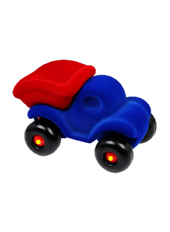 Rubbabu Soft Dump Truck Baby Educational Toy, Blue.Red