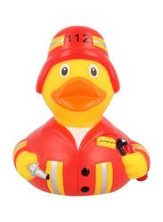 Lilalu Fireman Duck Bath Toy, Red/Yellow