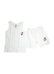 Hello Kitty Printed Vest & Shorts Set, Size 10 UK, White