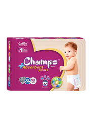 Champs High Absorbent Baby Pants Diapers, Size XL, 12-17 kg, 10 Count