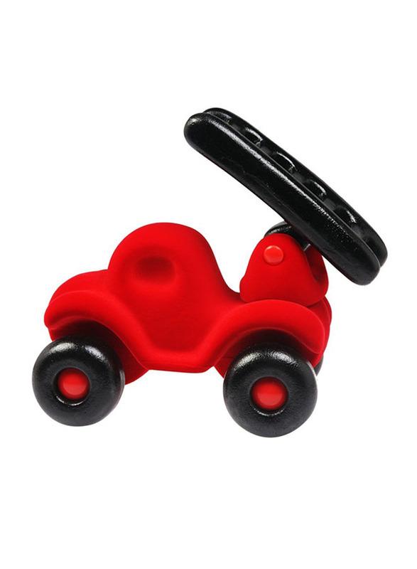 Rubbabu Soft Fireman Fire Engine Baby Educational Toy, Red/Black