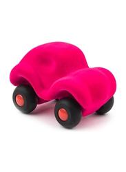 Rubbabu Car Soft Baby Educational Toy, Dark Pink/Black