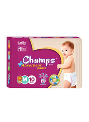 Champs High Absorbent Baby Pants Diapers, Size M, 7-12 kg, 10 Count