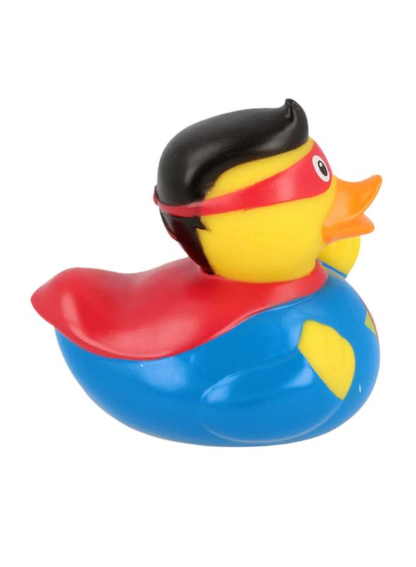 Lilalu Superman Duck Bath Toy, Blue/Yellow