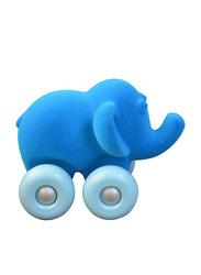 Rubbabu Soft Aniwheel Elephant Baby Educational Toy, Blue