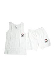 Hello Kitty Printed Vest & Shorts Set, Size 12 UK, White